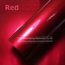 Qualità Premium 10/20/30/40/50/60X152CM/Lot Rosso Metallizzato Lucido Glitter Wrap adesivo per auto avvolge Lucida Della Caramella Oro Della Pellicola Del Vinile