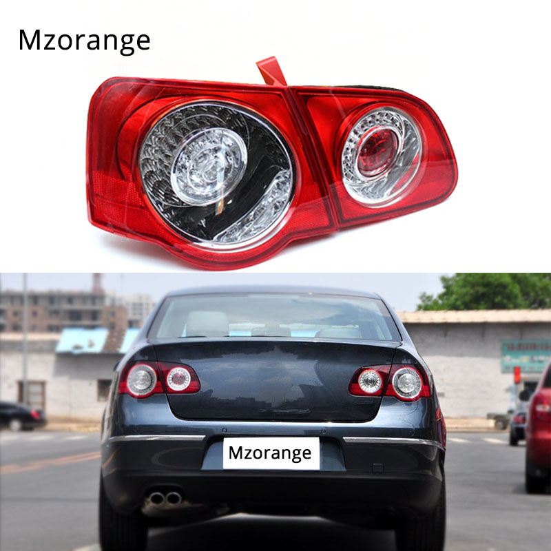 MZORANGE Car LED Rear Tail Light Lamp For VW Passat B6 Sendan 2006 -2011 Car-Styling Outer inner left right side fast ship 1pcs black holder outer rear tail lamp taillight right passenger side 8330a622 for mitsubishi lancer evo 2006 2012