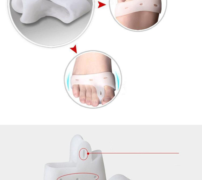 Protector Feet Care Hallux Valgus Toes Separator Toe Gel Separators Stretchers Bunion Protector Straightener Corrector Alignment (6)