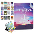 For Ipad Air 2 Case Fashion Painted Leather Cover Stand Case for New Apple Ipad 6 Ipad Air 2 Painting Fundas for Apple IPad Air2