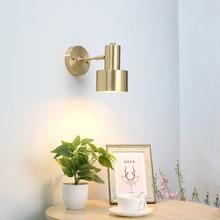 Modern Nordic Wall Lamp Led Bedroom Mirror Lights Bedside Indoor Wandlamp Vintage Gold Vanity Light E27
