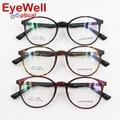 Moda frame ótico TR90 óculos de sol retro rodada para as mulheres mais populares 2530