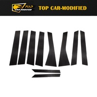 Free Shipping Carbon Fiber Auto Door B Pillars Side Window Covers Trims Car Parts for Porsche Cayenne