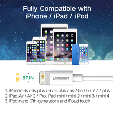 USB Cable for iPhone 6 2.4A, 5S, 5, 7 iPad