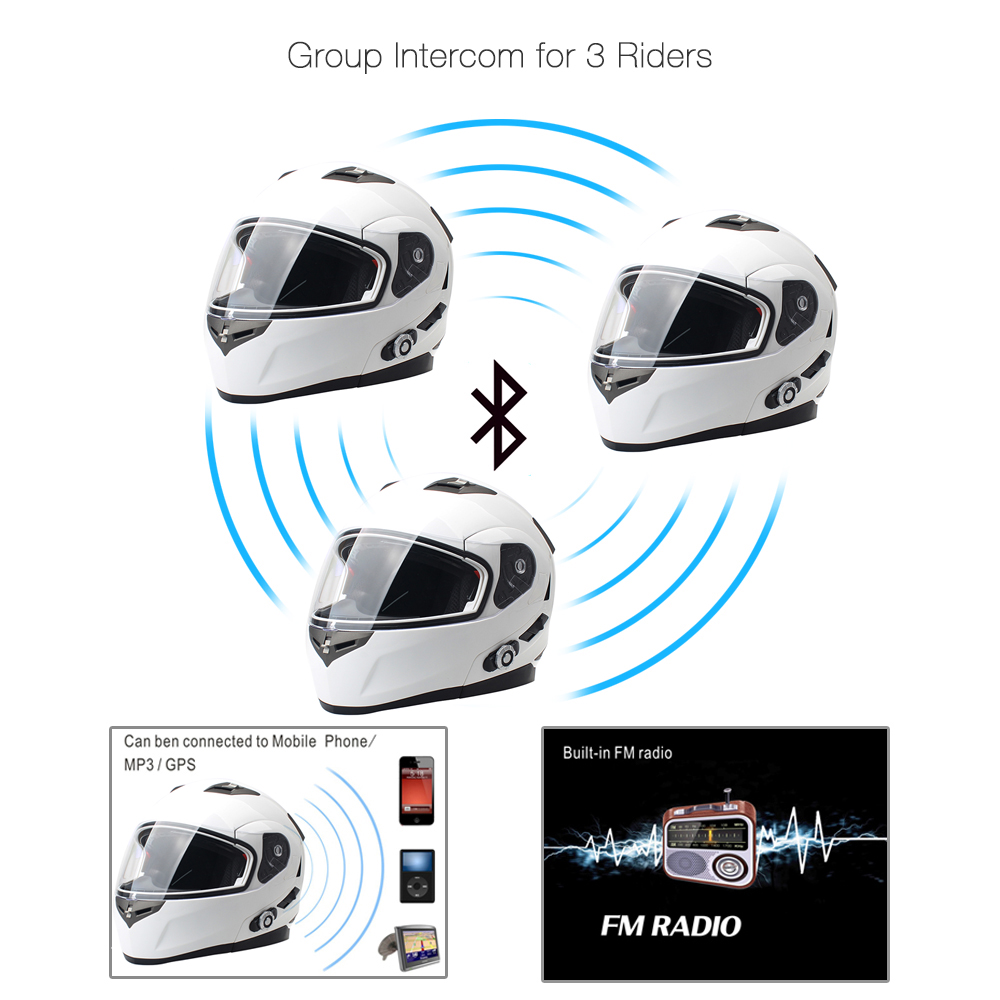 2017 FreedConn Smart Bluetooth мотоциклдік дулыға - Мотоцикл аксессуарлары мен бөлшектер - фото 4