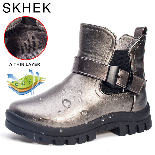 Skhek 2018 niños Zapatos Botas para Niñas bebé invierno Botas botas para  niña Zapatos cuero sneakers 266b985f8dc
