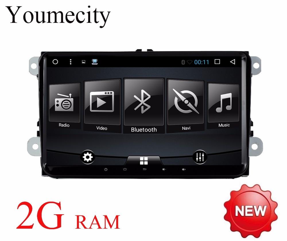 Youmecity Android 7.1 dvd-плеер автомобиля Радио GPS стерео для Фольксваген Skoda Гольф 5 Гольф 6 поло Passat B7 t5 CC Jetta Touran
