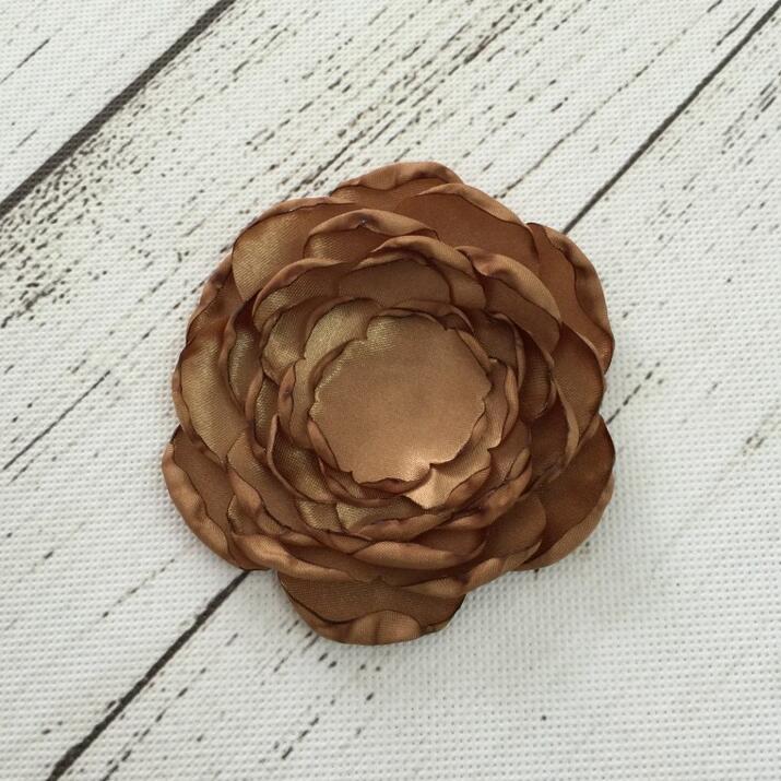 100pcs Satin burnt rose flower in stock