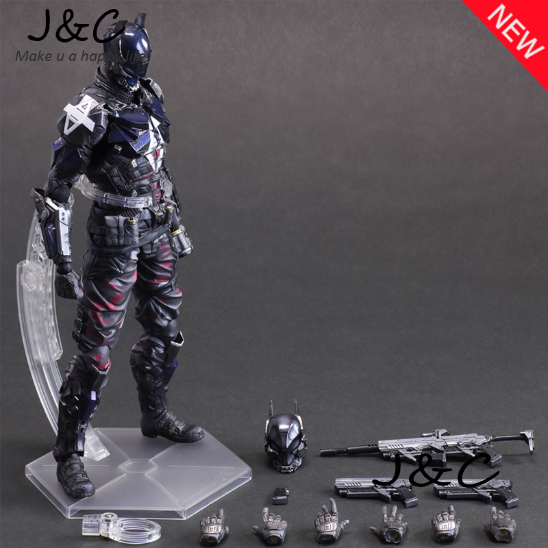 NEW 28CM MOX Figure - PLAY ARTS PA Batman: Arkham Knight Action Figure Model Toys Gifts Collection play arts 27cm arkham knight batman robin action figure model toys