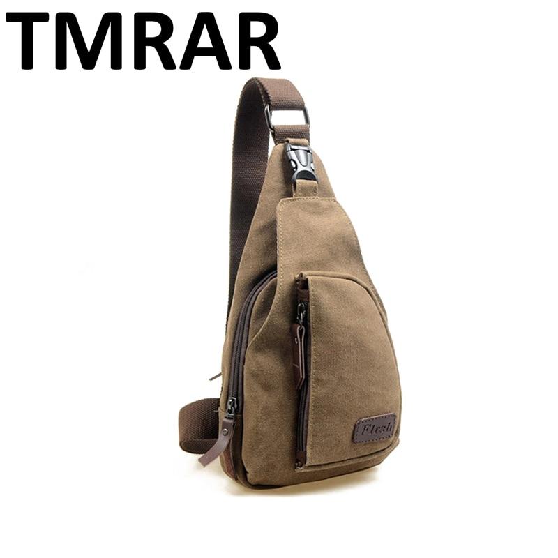 Hot 2019 Men Canvas Good Quality Chest Bag Casual Messenger Bags Military Handbags Design Practical Shoulder Bags For Male Qn036
