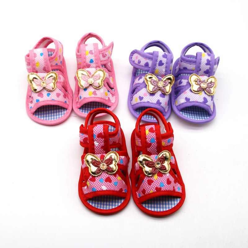 Детские сандалии для девочек мягкая подошва для малышей обувь противоскользящие сандалии обувь для ходьбы с цветочным рисунком Infnat детские сандалии