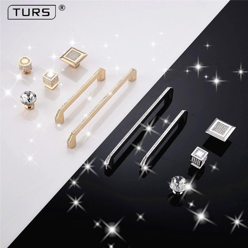 Single Hole Golden color Decorative Jewelry Box Drawer Cabinet Dresser Wooden Case crystal diamond Handle Pull Knob with screwSingle Hole Golden color Decorative Jewelry Box Drawer Cabinet Dresser Wooden Case crystal diamond Handle Pull Knob with screw