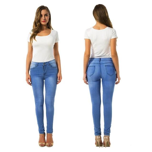 60553545c9f Plus Size Cotton Jeans Leggings Push uP For Women Pencil Legging High  Elastic Workout Pants Women s 2018 Sportings Leggins Pants