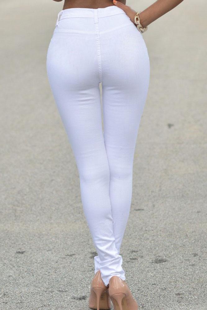 White Denim Skinny Jeans - Legends Jeans