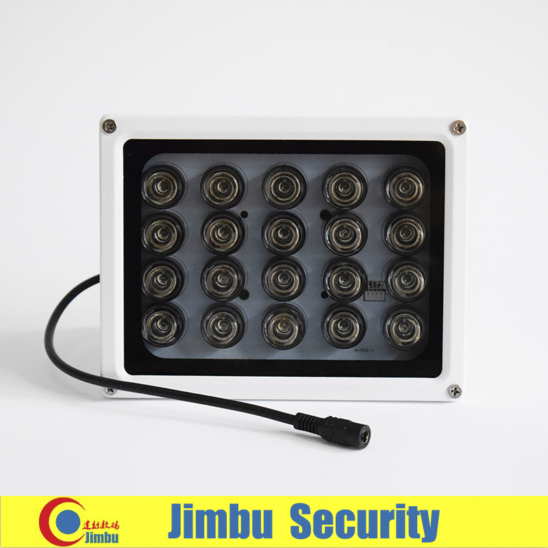 20PCS IR LEDS Array IR illuminator infrared CCTV camera accessory light IP65 Metal material Waterproof Night Vision Fill Light azishn cctv 12pcs array leds ir illuminator infrared outdoor waterproof night vision cctv fill light for cctv security camera