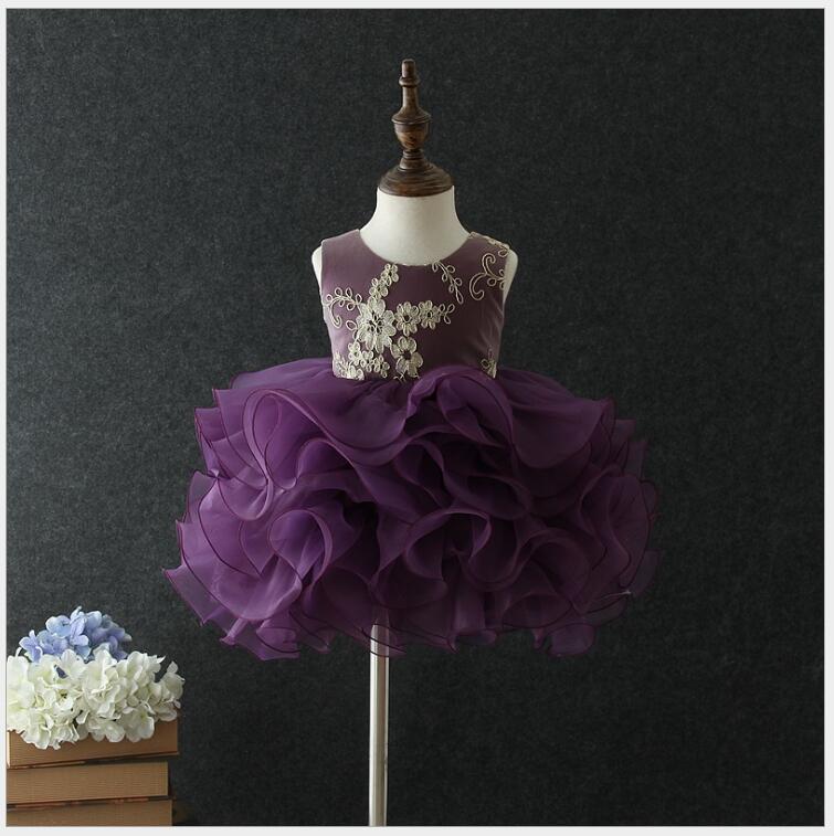 Robe de baptême bébé fille robe de soirée premier anniversaire robe de bal élégante robe de princesse boutique vêtements enfants fille