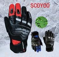 Touch Phones Men S SCOYCO MC17B Motorcycle Gloves Leather Motorbike Racing Female Moto Waterproof Windproof Glove