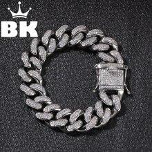 Alta calidad, acero inoxidable, oro, cadena cubana, eslabones, pulseras gruesas, joyería Punk, rapero, accesorios para hombres y mujeres