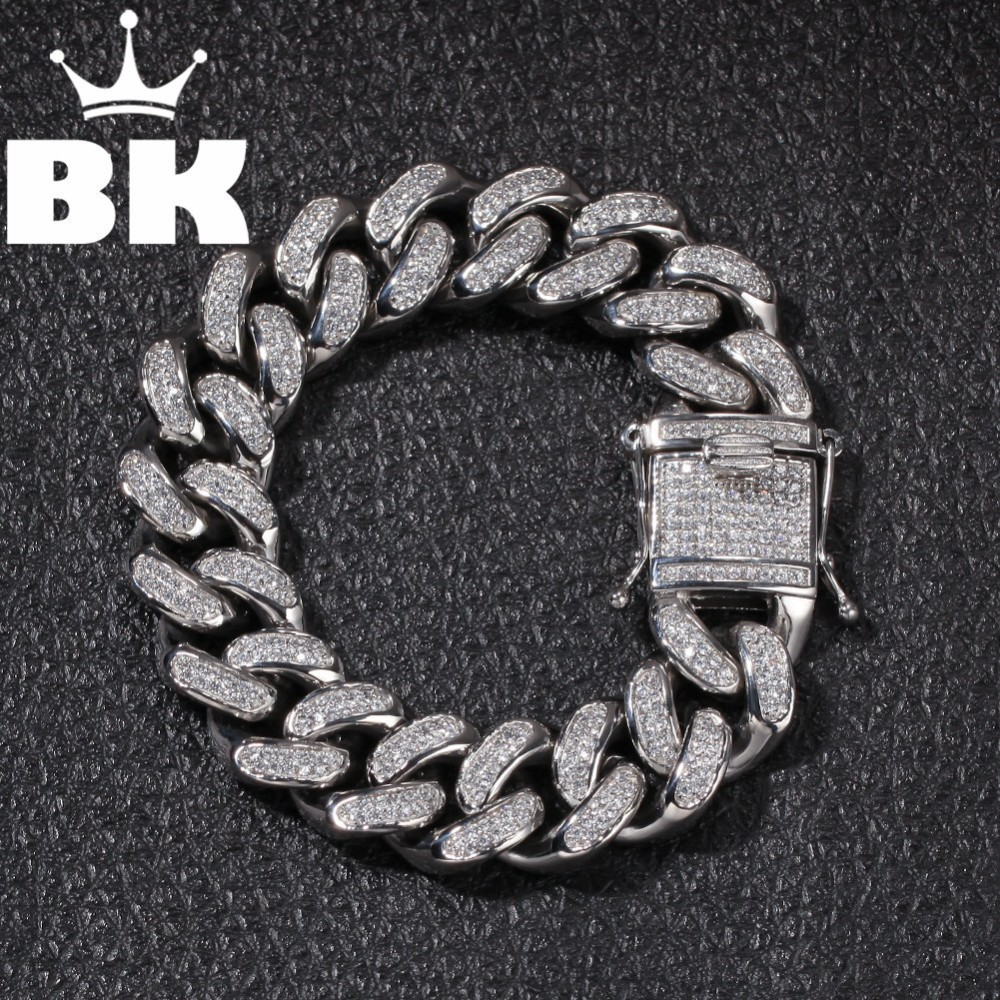 High Quality Stainless Steel Gold Curb Cuban Chain Link Thick Bracelets Punk Jewelry Rapper Men Women Accessories