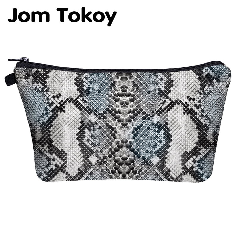 Jom Tokoy Cosmetic Bag Printing Serpentine Bag For Makeup Organizer Womens Beauty Bag