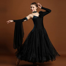 Adult High specification big pendulum modern dance dress woman elegant standard ballroom/waltz/tango dance competition dress