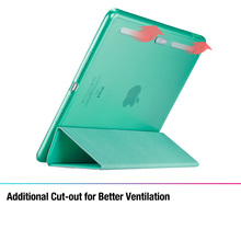 ESR PU Leather Front Cover+Soft TPU Bumper Edge Stand color Auto Sleep Smart case for iPad Air 2