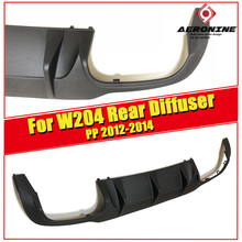 For MercedesMB W204 C63 Look Rear Bumper Diffuser PP black C class C200 C220 C250 C300 C350  lip diffuser&C63 bumper 2012-2014