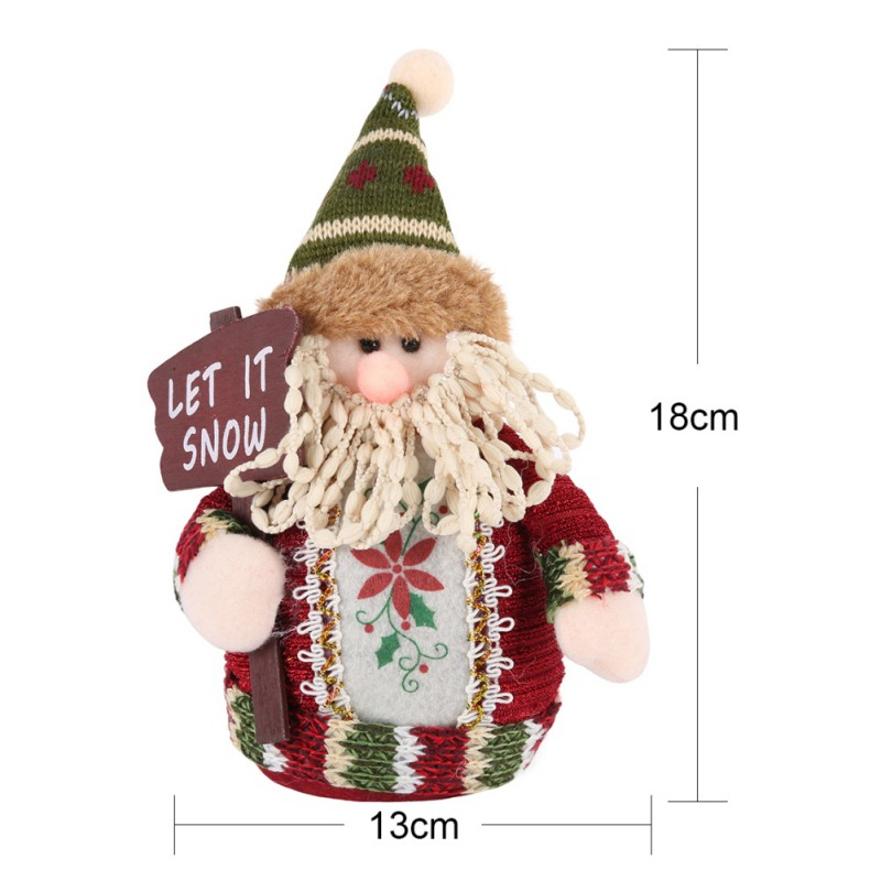 2017 Christmas Santa Claus Doll Home Decorations Elk Snow Man For Kids Toys Christmas Gifts NEW