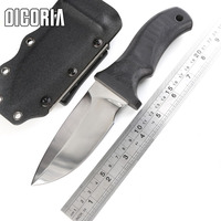 DICORIA XT MAD DOG A2 lâmina G10 lidar com faca Tático fixo lâmina de faca de caça KYDEX Bainha de sobrevivência de acampamento ao ar livre facas EDC ferramentas