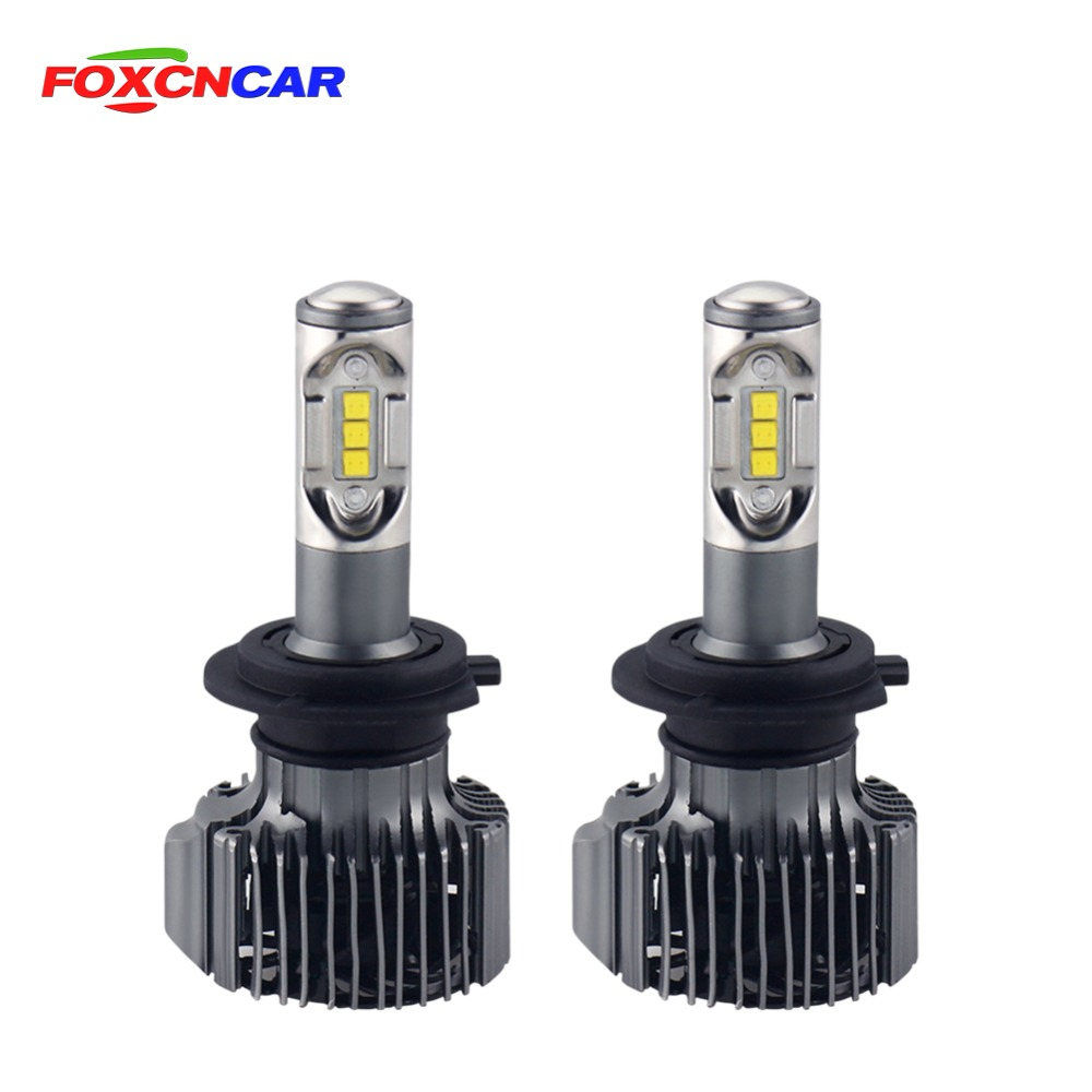 Foxcncar H4 Led Car Headlight H7 Automobiles Bulb H11 9012 Led Light HB4 HB3 9006 9005 Fog Light 72W 12000LM 6500K Light Lamp