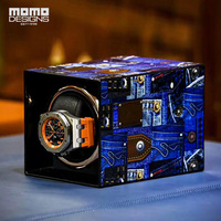 Fashion 3D Pattern Watch Winder Single Automatic Watch Chain Box With TPD 9 Mode Control