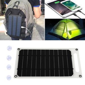 Image 1 - פנל סולארי קמפינג 5V 10W 2A עמיד שמש מטען לוח טלפון מטען מהיר מטען USB יציאת טיפוס שמש גנרטור חיצוני