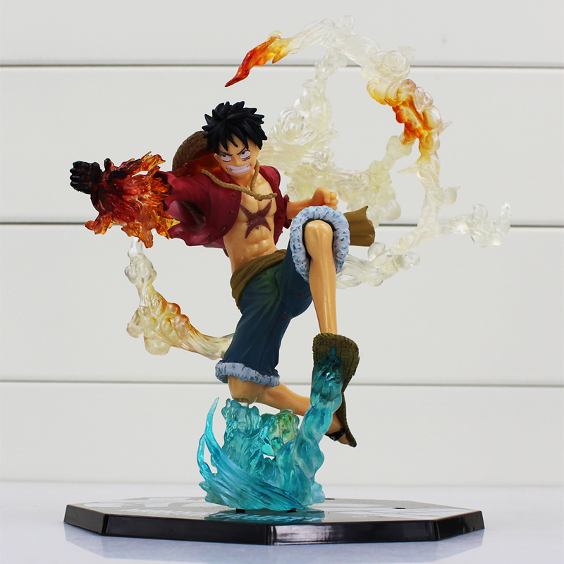 One Piece Monkey D Luffy Battle Ver. PVC Action Figure Collectible Model Toys Gift for Children 7 18cm Doll стоимость