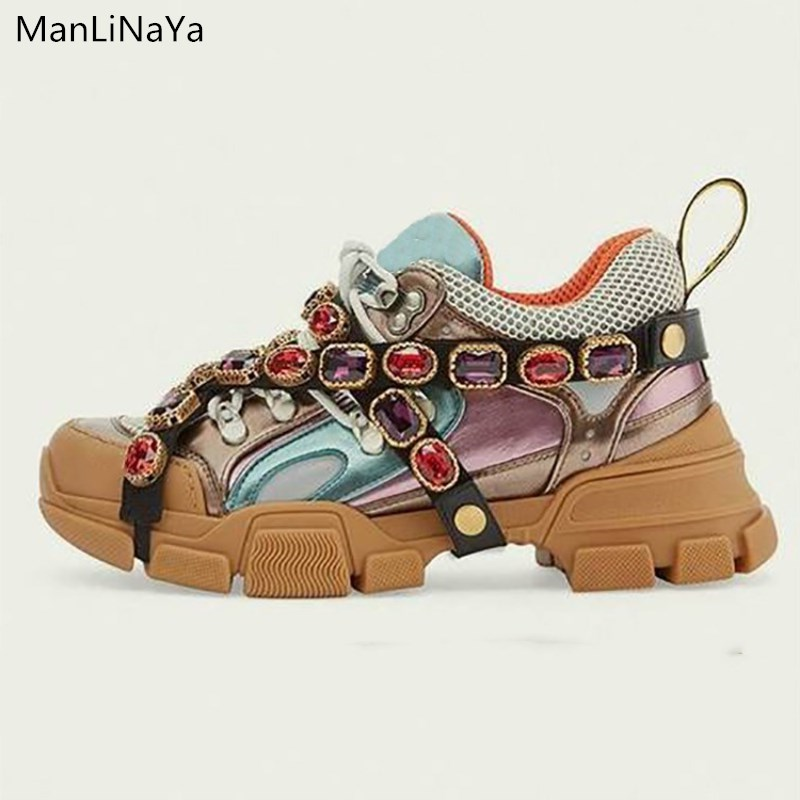 Sneakers Women Flats Shoes Mix Color