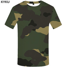 3d Tshirt Green Camo T-shirt Men Graffiti Shirt Print Camouflage Tshirts Casual Military Anime Clothes Gothic T-shirts