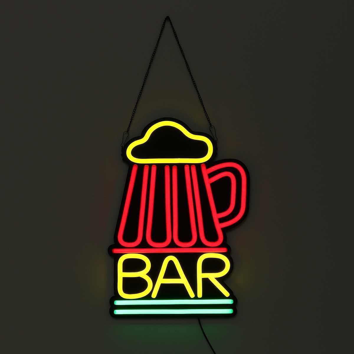Barre néon signe lumière LED Tube à la main illustration visuelle BAR Club KTV décoration murale éclairage Commercial coloré néon ampoules