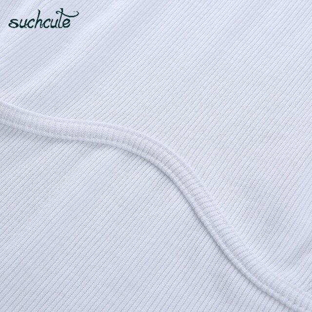 SUCHCUTE, camiseta para Mujer, Top corto, camisa Blanca, correa De Mujer, De Moda De verano 2019, Polera Blanca, Moda informal De estilo coreano para Mujer 5