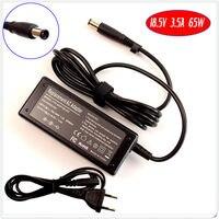 Dla hp elitebook 2560 p 2530 p 2730 p 6930 p 8730 w 8530 p 8530 w laptop ładowarka/zasilacz 18.5 v 3.5a 65 w
