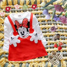 New Kids'Cartoon Dress Fashion Girls' Suits Free of Freight in 2019 цена и фото