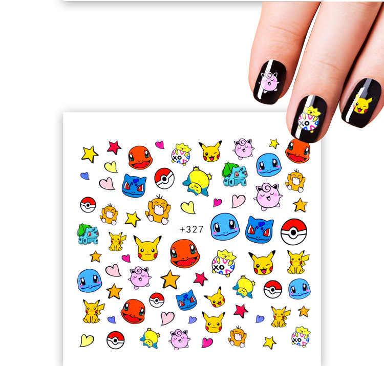 1pcs Pokemon Cartoon Nail Sticker Fruit Water Decals Transfer Colorful Slider Tips Nail Art Watermelon Decor As121