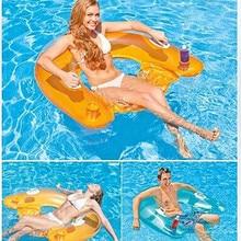 Надувной матрас для плавания, роскошная надувная плавающая кровать для взрослых, вечерние плавающие кровати для плавания