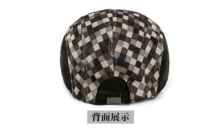 Flat-top camouflage army hat fashion fashion rivets cotton polyester fiber men s flat top hat cap army green