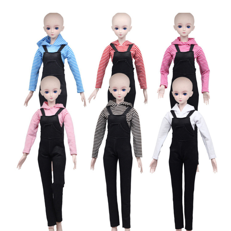1 Set 60cm Dolls Accessories Clothes Shirt&Pants For 1/3 BJD Clothes For Doll Toy Suit Multi Color Dress For Bjd Girls Toys