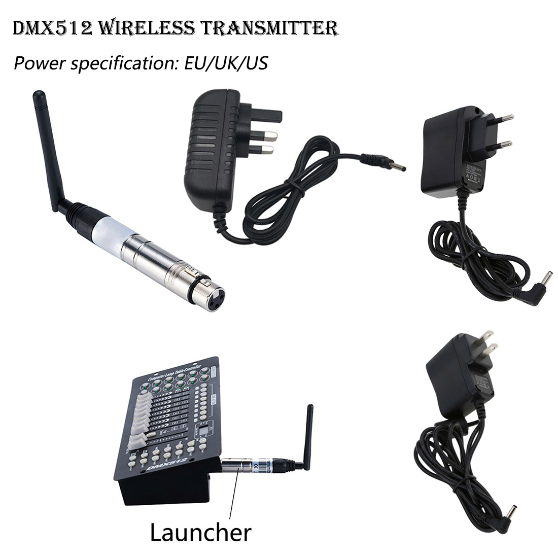 DMX512 Wireless System Transmitter 2.4G For LED Stage Light LED Light 500m Control