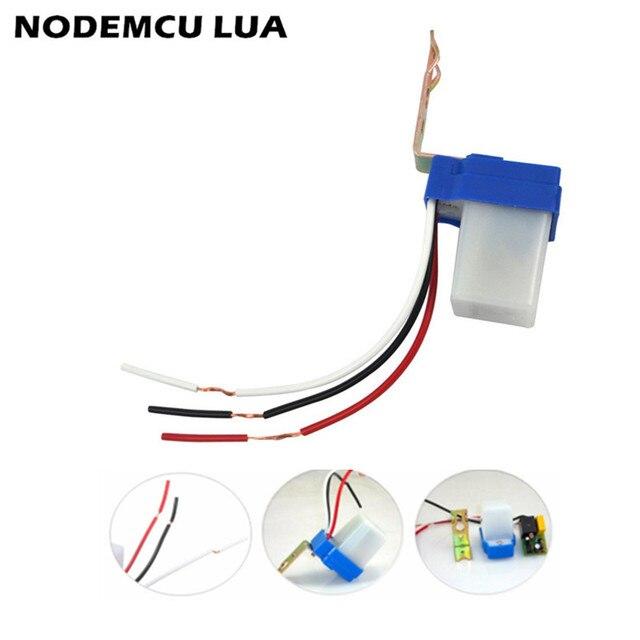Automatyczny wyłącznik automatyczny przełącznik lampy ulicznej przełącznik elektryczny DC AC 220 V 50-60Hz 10A kontrola zdjęć Photoswitch czujnik