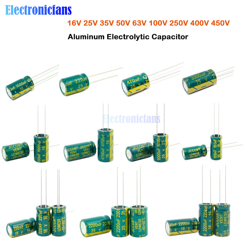 50pcs Capacitor 6.3V 1000uF 1800uF 2200uF 3300uF 1000uF 3300uF Electrical Parts