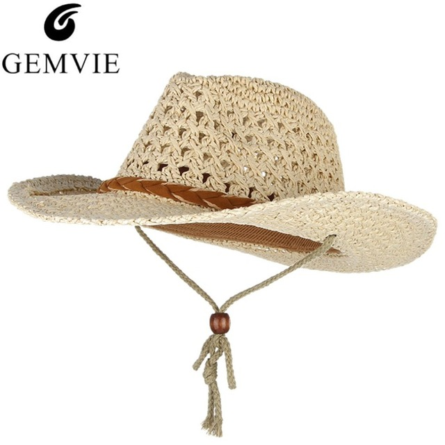 836cec087 US $10.4 8% OFF|Handmade Weaved Baby Kids Straw Hats Wide Brim Sun Cap With  String Vintage Summer Hats For Girls Boys Travel Beach Caps-in Hats & Caps  ...