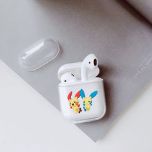 Case For Airpods Transparent Wireless Earphone Charging Box Cover Bag for Apple AirPods 1 2 Hard PC Protective