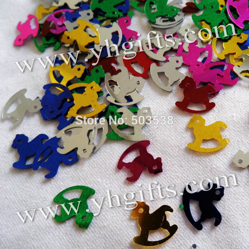 500Gram/Lot, Mixed color rocking horse sequins,Craft work,Craft material,Handmade accessories,scrapbook kit.1.5cm.OEM packing