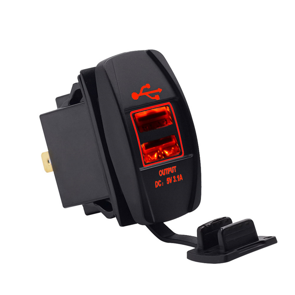Car USB Charger XIAOMI Quick Charge Fast Car Charger Car-Charger Double USB Charging Waterproof 3.1A Car Charger LED Lamp 12-24V